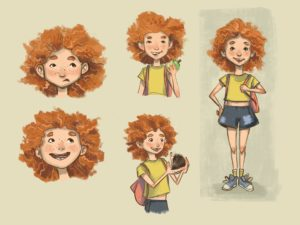Character design – Red haired girl
